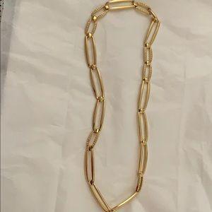 Vtg Goldtone with Diamond Like Chain Stone Belt